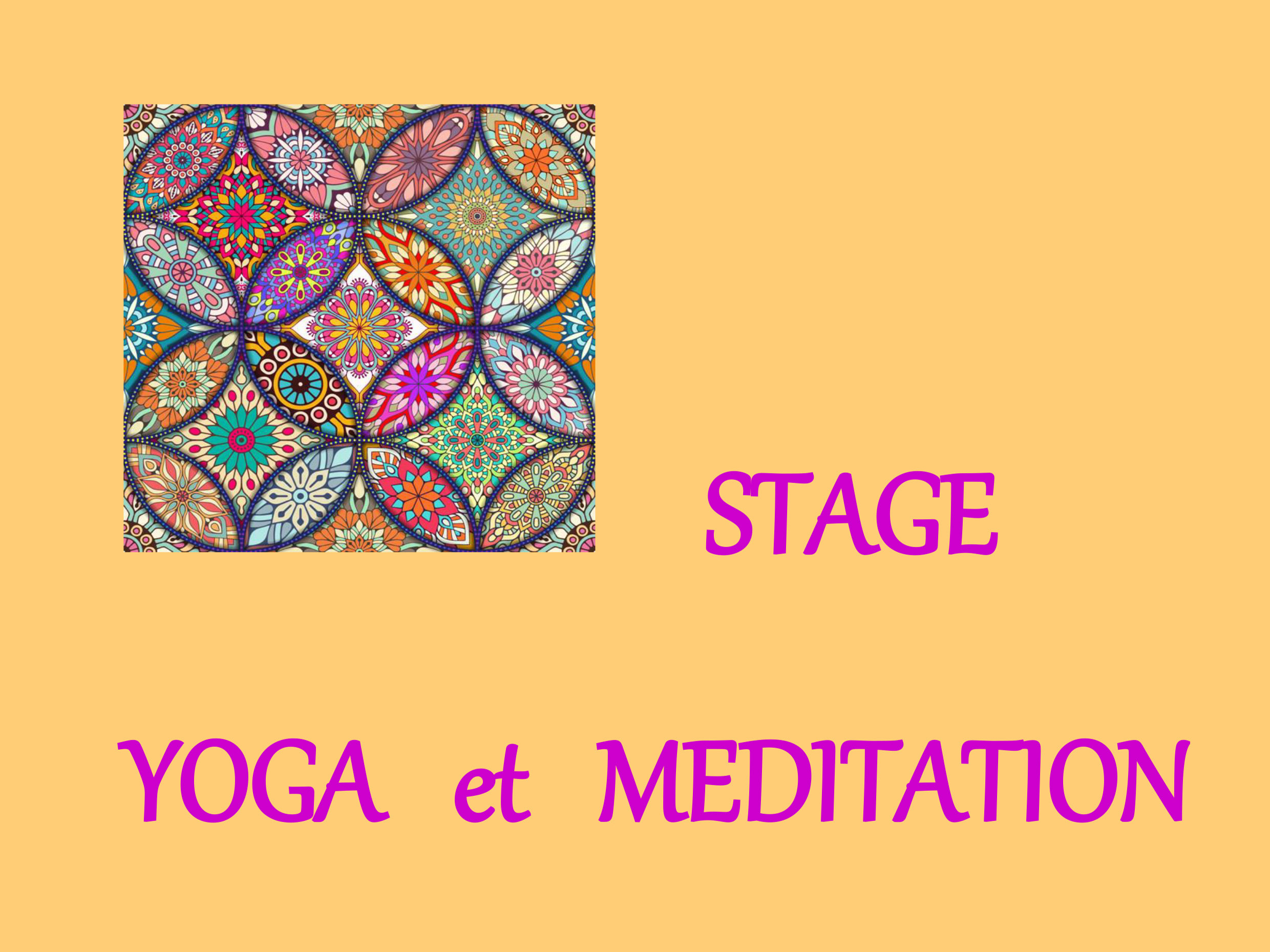 STAGE DE YOGA ET MEDIATION